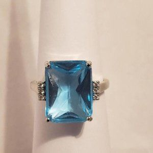 Blue Sapphire Woman Ring size 10